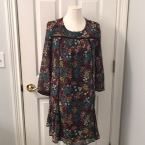 Floral multi color dress